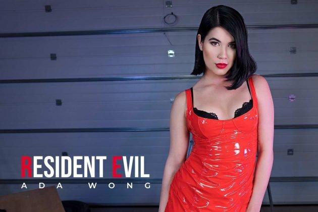 VR пародия с молодой азиаткой. Обитель Зла Ада Вонг ХХХ