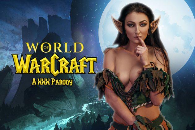 VR порно косплей по игре World of Warcraft. Секс с эльфийкой.